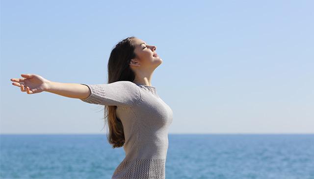 胸式呼吸と腹式呼吸とは?